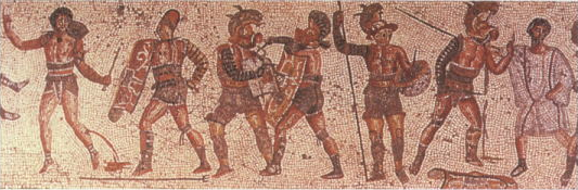 Gladiators_from_the_Zliten_mosaic