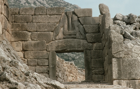 Wall and Lion Gate. Citadel of Mycenae
